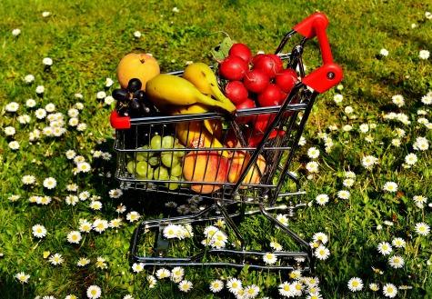 Healthy shopping cart