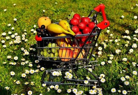 Healthy shopping cart